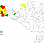 Situação dos municípios, segundo Índice de Infestação Predial (IIP). LIRAa/LIA. Santa Catarina, março/2018.