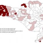 Mapa dos municípios, segundo situação entomológica. Santa Catarina, 2018