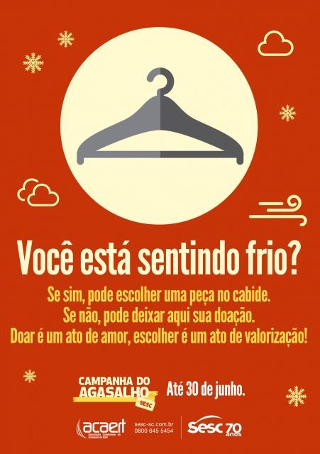 """a2e12fee5cf Sesc realiza """"Cabide Solidário"""" neste sábado para distribuição de ..."""