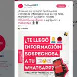 Verificado 2018, projeto mexicano, pede que usuários compartilhem as notícias falsas recebidas sobre as eleições (Foto: BBC/reprodução Twitter Verificado 2018)