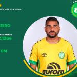 Ivan Soares aparece no site da Chapecoense como goleiro do elenco profissional — Foto: Site da Chapecoense/ Reprodução