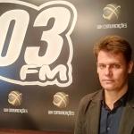 Presidente da Câmara de Dirigentes Lojistas (CDL) de Descanso, Tiago Lorenski / Foto: Silvana Ruschel / 103 FM